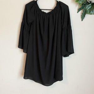 Missguided Off Shoulder Bell Sleeve mini dress